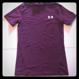 Youth medium Under Armour heat gear shirt maroon